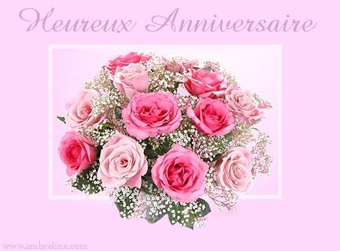 Bouquet d 39 anniversaire for Bouquet de fleurs pour un malade
